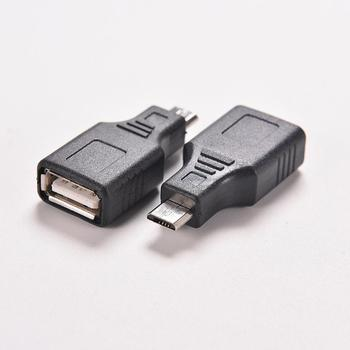 JETTING 1PC Black F/M USB 2.0 A Female To Micro / Mini USB B 5 Pin Male Plug OTG Host Adapter Converter Connector up to 480Mbps image