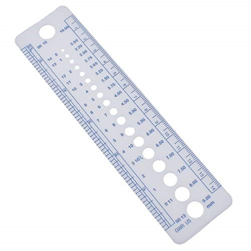 Hot Sell 1pc Knitting Needle Gauge Inch Cm Ruler Tool