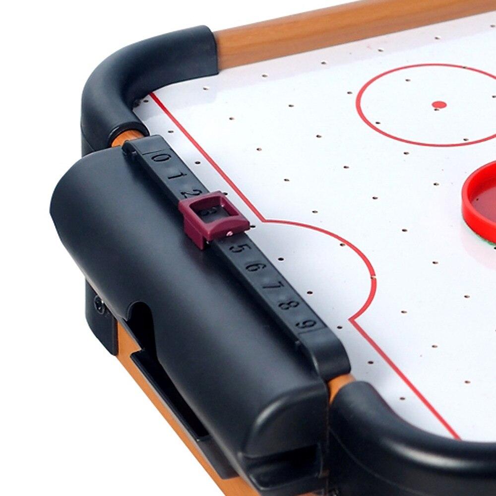WIN. MAX jeu de Table série jouet Mini Air Hockey avec 2 poussoirs et 1 rondelle pour enfant enfants - 4