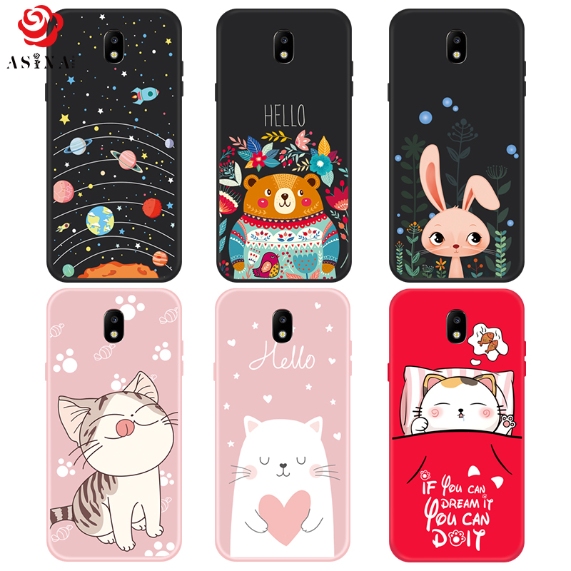 newest 764ea 8fd39 US $2.09 30% OFF|TOO Soft Silicone Case For Samsung J7 2017 Coque Cute  Cartoon Silicone 3D Patterned Case Cover For Galaxy J7 Pro J730 Fundas -in  ...