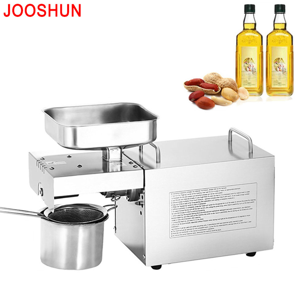 Jooshun OPM-500 Mini Oil pressers / Home Cooking oil press machine / Automatic HOT and COLD Oil press Stainless steel for Sale