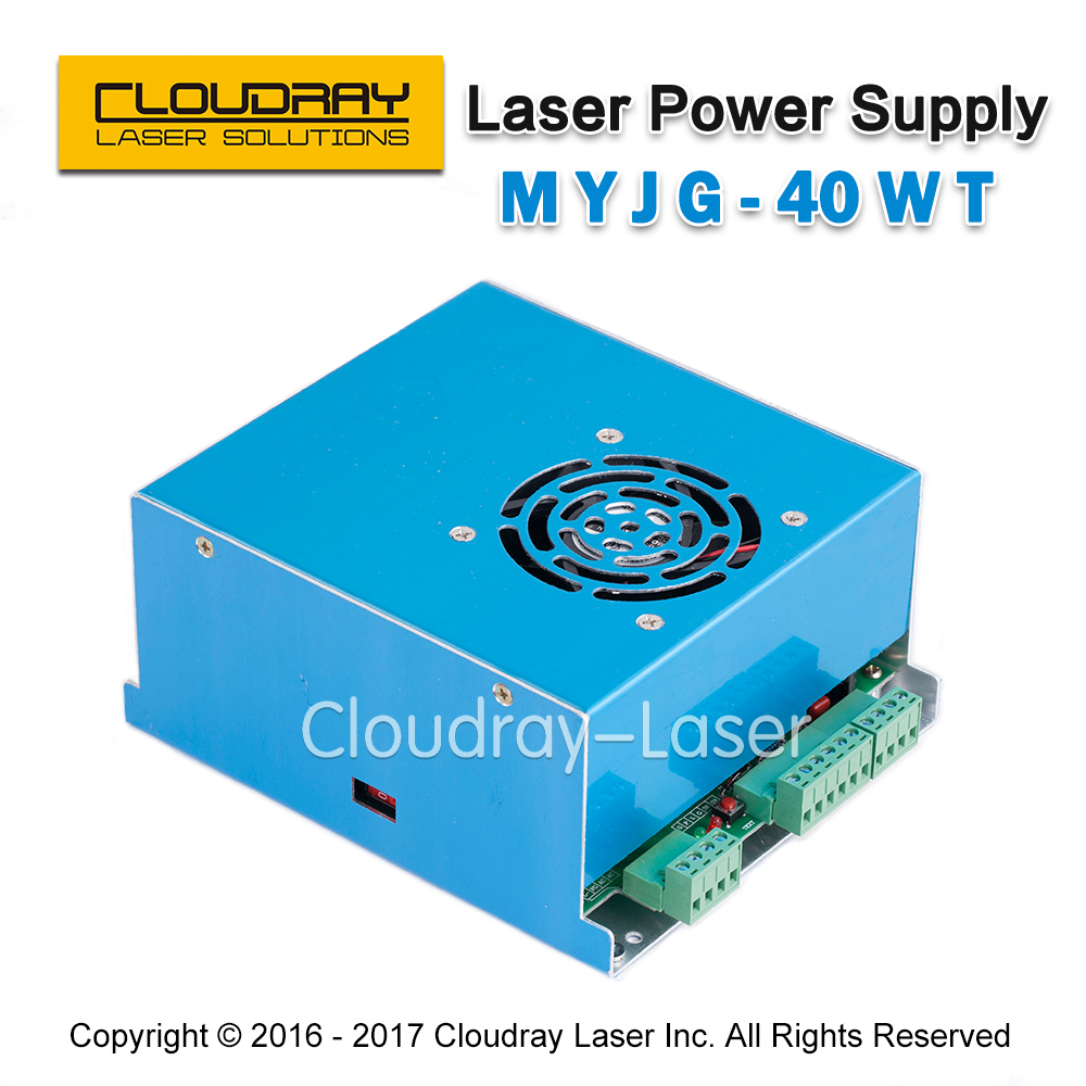 MYJG 40W T CO2 Laser Power Supply 110V/220V High Voltage for Laser Tube  Engraving Cutting Machine  1 Year Warranty hot sell high quality cw3000 water chiller cooling laser tube for laser machine