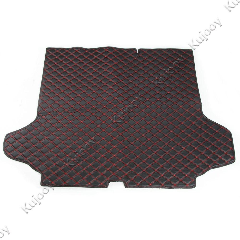 1 pièces tapis de coffre arrière en cuir de voiture protecteur de plancher de cargaison tapis de protection de pied pour Chevy Equinox 2017 + accessoires de style de voiture intérieure - 2