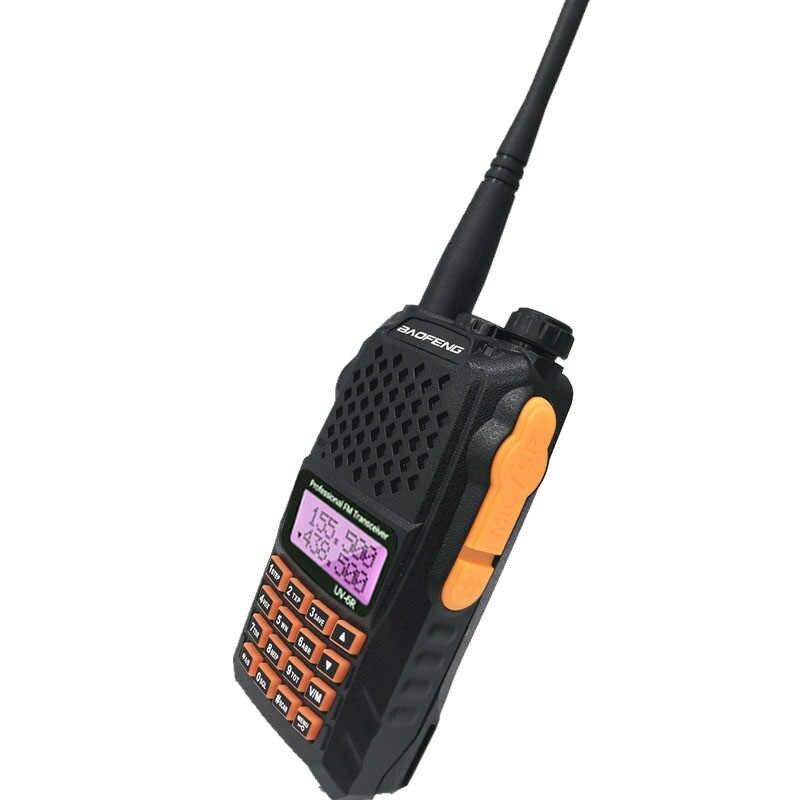 Baofeng UV-6R 7W Walkie Talkie de alta potencia VHF UHF banda Dual de dos vías Radio HF transceptor inalámbrico UV6R Ham CB Radio estación 8W