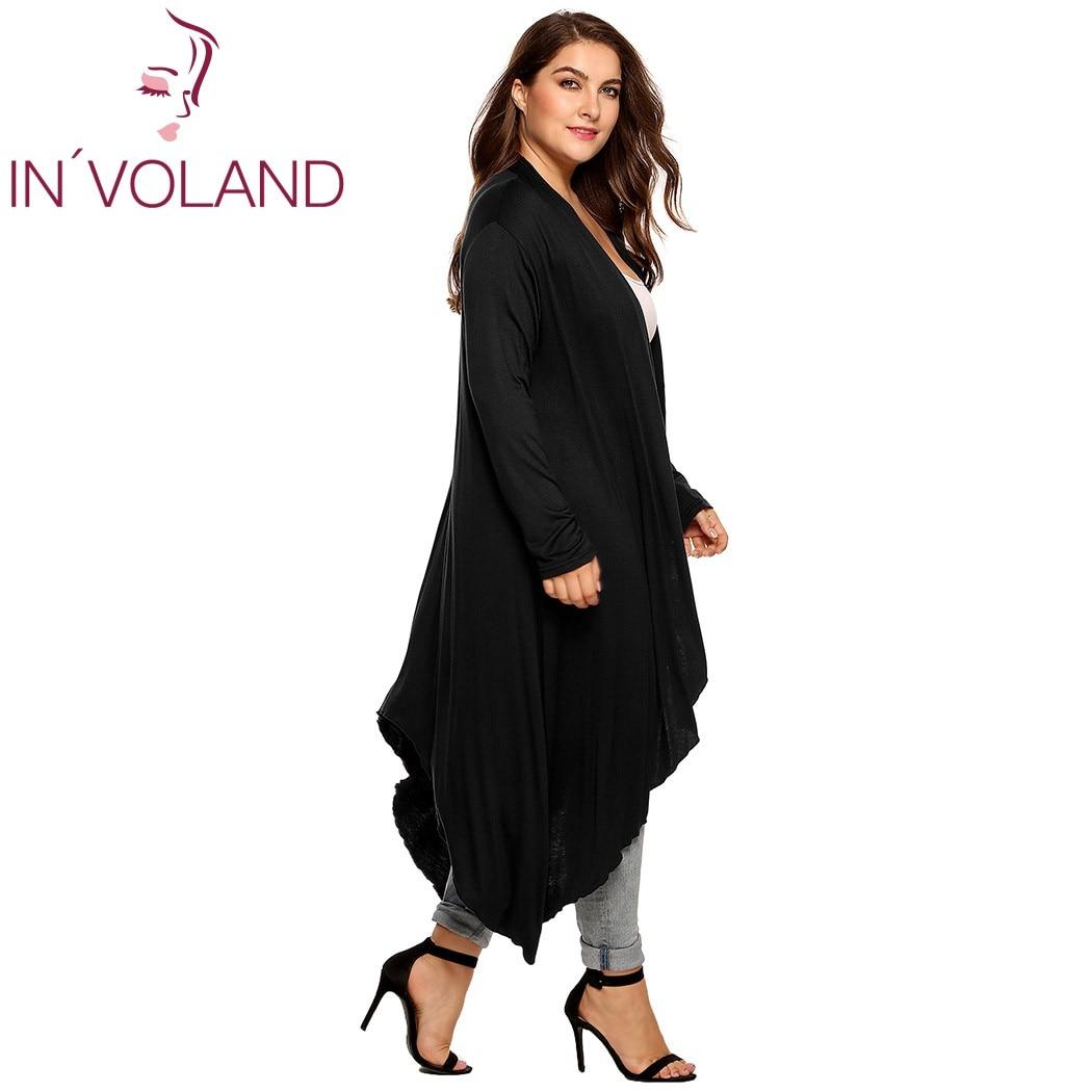 IN'VOLAND Կանացի Cardigan Jacket Plus Չափի - Կանացի հագուստ - Լուսանկար 5