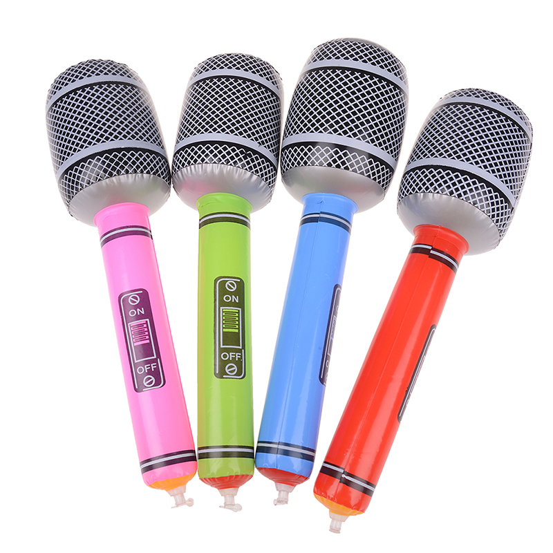 Inflatable Musical Toys For Children Kids Instruments Microphone Set Cool Fun Gift Party Supplies Stage Decorations Prop