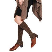 High Quality Japanese Hosiery Wool Stockings Women Over Knee Socks  Steunkousen Vrouwen Warm Loose Stocking Glitter Christmas