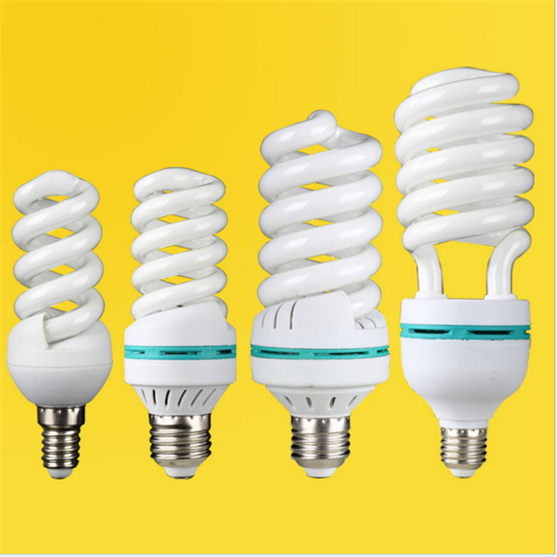 AC170-240V E27 B22 light 40W 15W spiral tube energy saving lamp Fluorescent light bulb bayonetyellow white tube