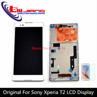 XIANHUAN Original LCD White For Sony Xperia T2 Ultra D5322 D5303 D5306 XM50h LCD Display Touch