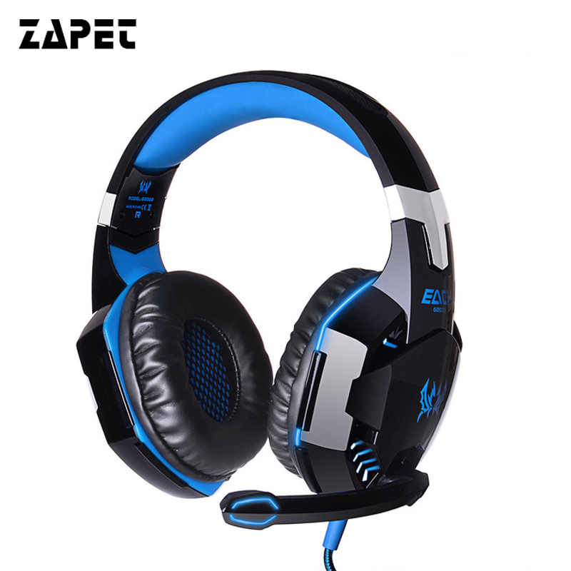 ZAPET G2000 Gaming Headphone Casque Best PC Computer Gamer Headset Stereo HIFI Deep Bass Headphones with Mic gaming headphone casque kotion each g2000 best computer stereo deep bass game earphone headset with mic led light for pc gamer