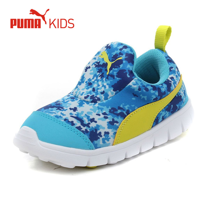 PUMA Kids Children Bright Camouflage Sport Sneakers Running Shoes Baby Toddler Lightweight Casaul Cool Slip On Rubber Boy Shoes babyfeet children shoes little girls shoes toddler shoes baby boys sneakers casual non slip sports shoes breathable size 26 30