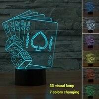 Night Light Visual Lamp Colorful Micro USB 3D Christmas Gifts Home Decor Christmas Decorations