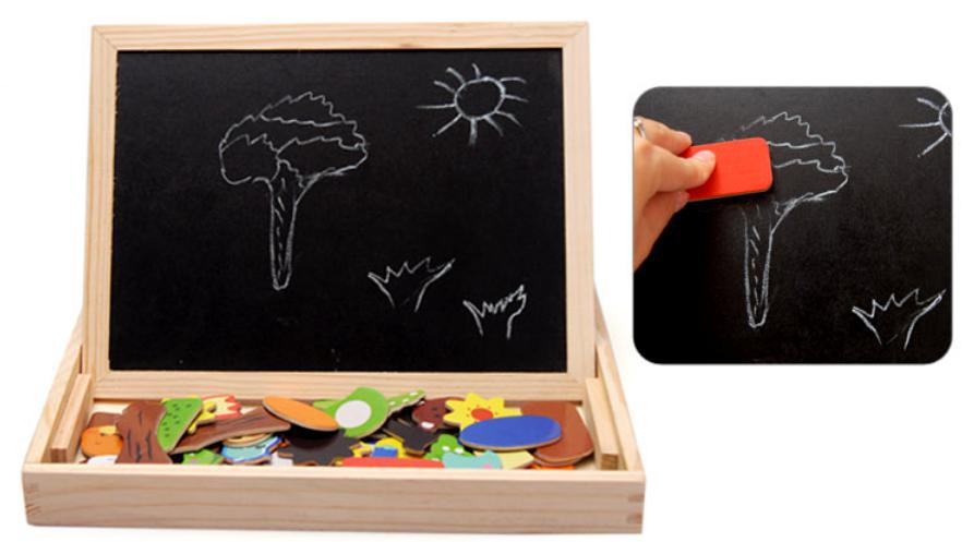 Multifunctional-Wooden-Chalkboard-Animal-Magnetic-Puzzle-Whiteboard-Blackboard-Drawing-Easel-Board-Arts-Toys-for-Children-Kids-3
