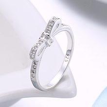be7c4974d716 Moda princesa boda pajarita anillo para mujeres regalo Cristal de piedra  anillo de plata señora joyería compromiso R992 estampad.