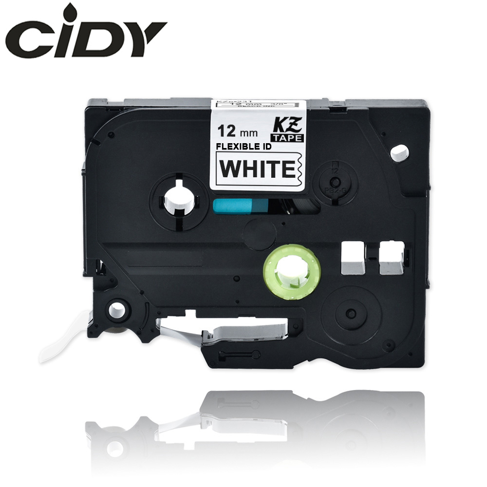 CIDY Compatible 12mm Black On White Flexible Label Tapes Tze-FX231 Tze FX231 Tz FX231 Tz-FX231 For Brother P-touch Printer