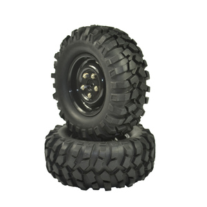 Image 3 - 4PCS 96mm Tyre RC 1/10 Off Road Car Beach Rock Crawler Tires Wheels Rim