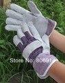100 pairs/lot воловья кожа + джинсовый переносной электрическая сварка короткая безопасный перчатки дуга сварщика рабочий перчатки