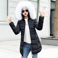 Female Fake Fur Collar Long Parka