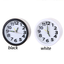 Hot sale loud alarm clock Circular Small Bed Compact Travel Quartz Beep Alarm Clock Cute Portable  despertador alarm clocks