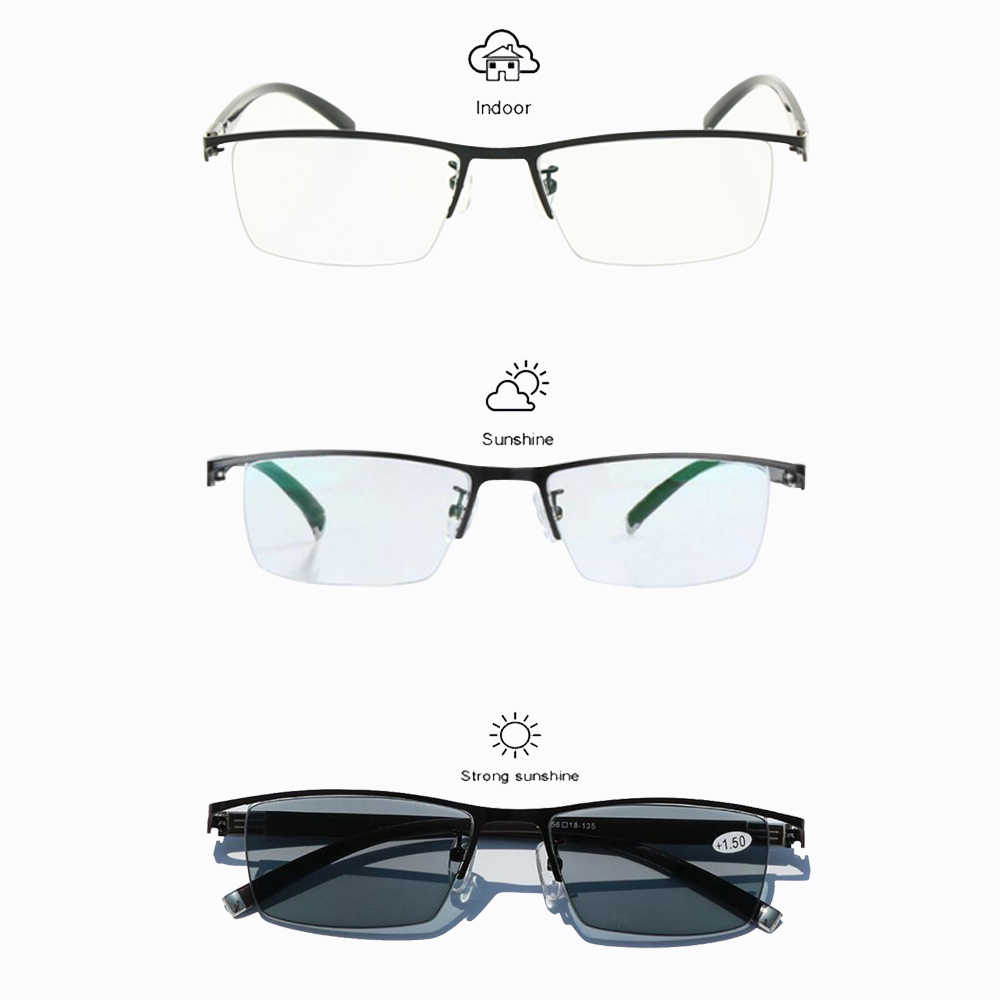 f9efe47699 ... Transition Photochromic Progressive Multi Focus Reading Glasses  Varifocal No Line Gradual Lens +Rx Farsighted from ...