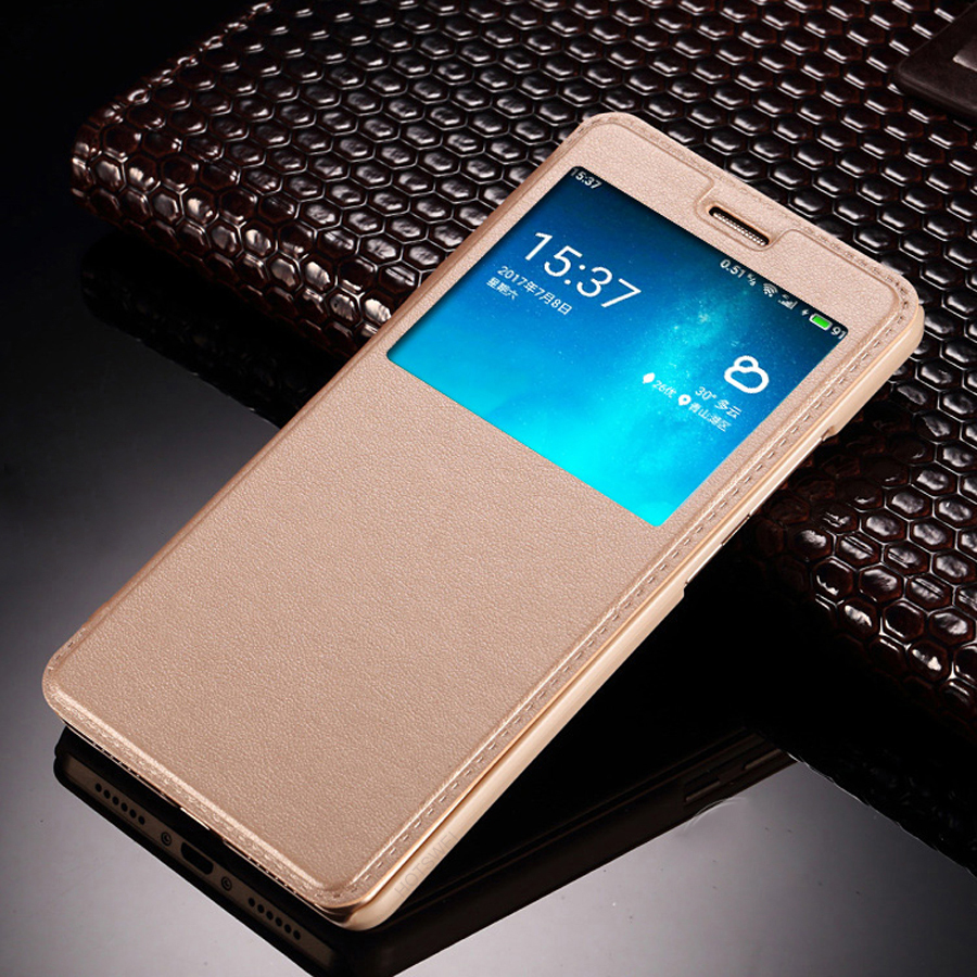 HOTSWEI Case for Xiaomi Redmi 4X Global Version 32GB 16GB Case Fashion Window View Leather Flip Cover for Xiaomi Redmi 4X Cases Pakistan