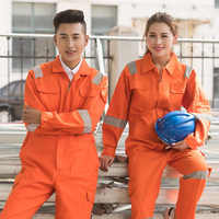 overalls men women work clothes flame retardant clothing long sleeve jumpsuit factory welding clothing fire proof coveralls