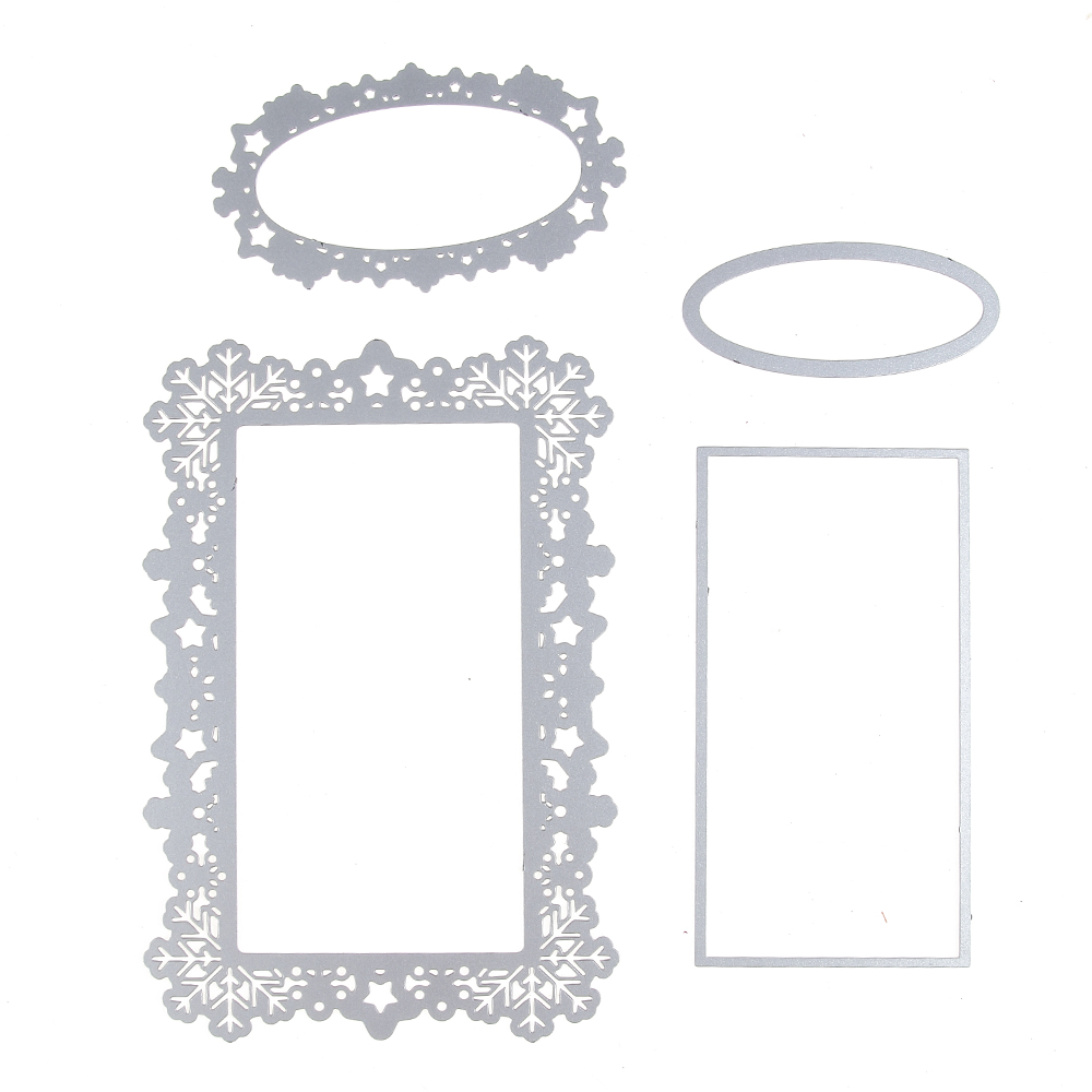 Snowflake frame set metal stencil embossing cutting dies 3d diy snowflake frame set metal stencil embossing cutting dies 3d diy scrapbooking craft photo invitation cards decoration 95140mm in cutting dies from home jeuxipadfo Image collections