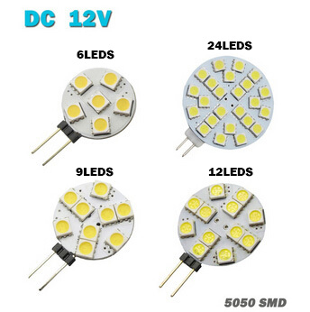 Wholesale 1W To 3W G4 LED 5050 SMD 360 Degree White Marine Camper RV Led Light Lamp Bulb DC 12V 6/9/12/24leds Free Shipping