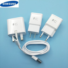 Original 9V1.67A USB Quick Adaptive Fast Charger+100CM type c Cable For Samsung Galaxy s8 s9 plus note 8 9 A3 A5 A7 2017 A8 2018