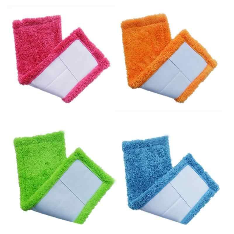 Koralowa aksamitna tkaniny Mop głowy grube płaski Mop tkaniny wymiana głowicy gospodarstwa domowego firmy Mop do czyszczenia z mikrofibry tkaniny łatwe do mycia