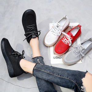 Image 3 - PEIPAH Spring Breathable Mesh Women Sneakers Casual Lace Up Zapatillas Deportivas Mujer Solid Trainers Womens Walking Shoes