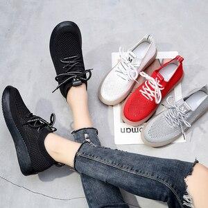 Image 3 - Peipah Lente Ademend Mesh Vrouwen Sneakers Casual Lace Up Zapatillas Deportivas Mujer Effen Trainers Vrouwen Wandelschoenen