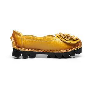 Image 5 - Nouveau Vintage à la main Style populaire femmes chaussures plates chaussures décontractées en cuir véritable dame chaussures à fond souple pour la mère mocassins de mode