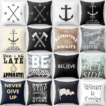 Hot sale get out side never give up be happy  letter  women men Pillow case boys girls weeping pillow cover size 45*45cm цена