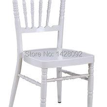 Качество прочный белый кресло алюминиевое Наполеон со съемной подушкой для свадебных церемоний вечеринок