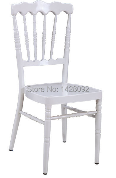 Wholesale Quality Strong White Aluminum Napoleon Chair With Removable Cushion For Wedding Events Party