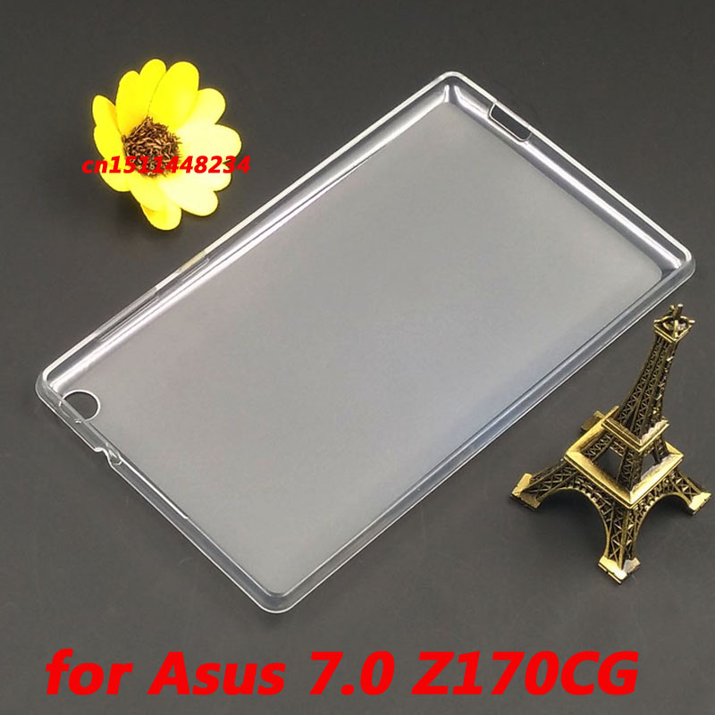 Hot! fashion high quality crystal Transparent TPU Back Cover Case for Asus ZenPad C 7.0 Z170C Z170CG Soft silicone Tablet case z170 high quality soft tpu rubber cover semi transparent back case for asus zenpad c 7 0 z170 z170c z170mg z170cg silicone cover