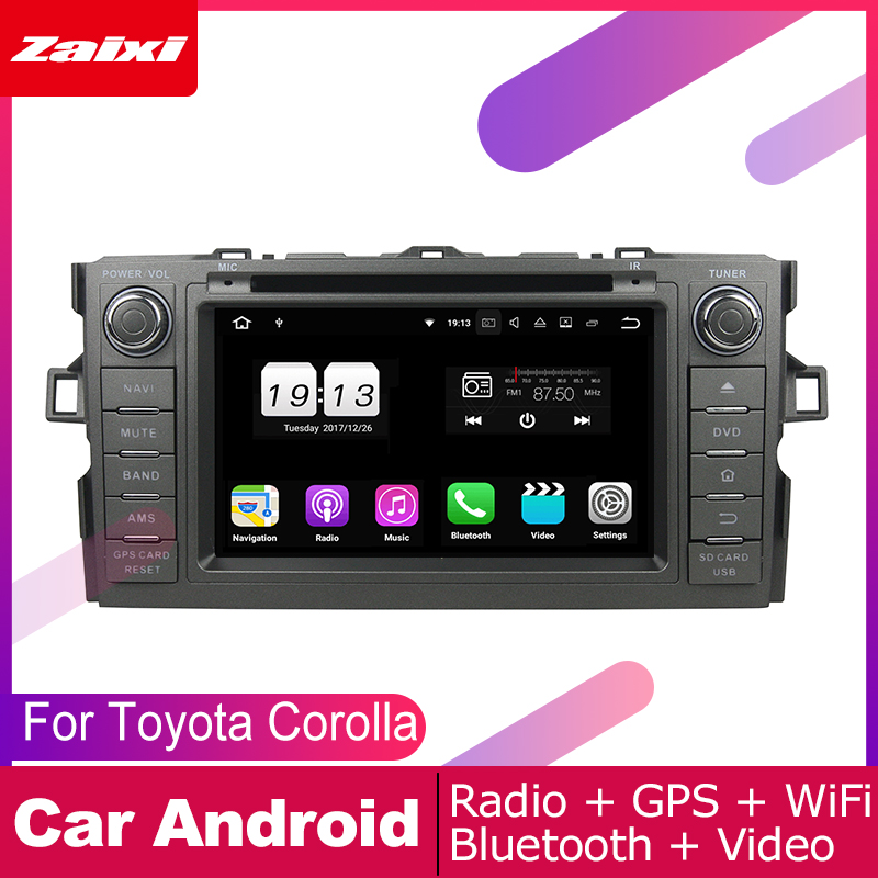 For <font><b>Toyota</b></font> <font><b>Corolla</b></font> <font><b>E150</b></font> hatchback 2006 2007 2008 2009 2010 2011 2012 Car Android Multimedia System 2 DIN Auto DVD Player GPS BT image