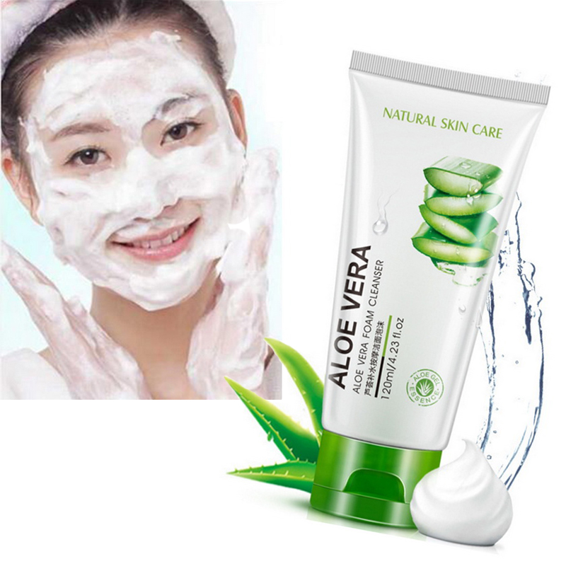 New Skin Care Aloe Facial Cleanser Natural Gel Daily Face Wash Exfoliating Gel Deep Pore Cleansing Hydration Remove Blackheads