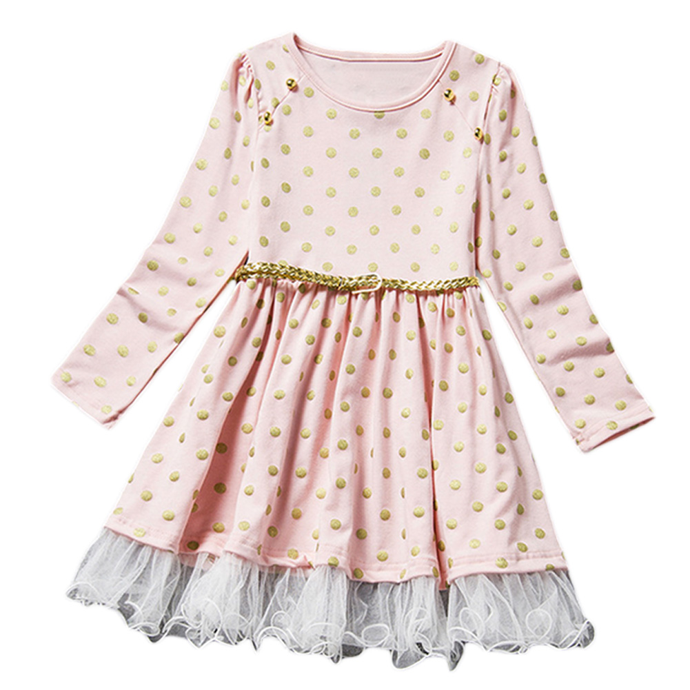 2017  Floral Baby Girl Dress  Autumn Winter Children Dresses With Kids  Sleeve Bow  Princess  Dresses For Girls Clothing fashion toddler girls princess dress elegant floral bow vestidos for baby girl winter infant kids cotton lace dresses