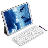 Alta Qualidade 4 em 1 Dobrável Capa de Couro Teclado Sem Fio Bluetooth caneta stylus filme tela tampa inteligente para ipad pro 12.9 fe14