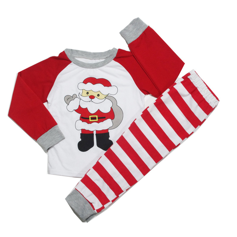 Christmas Baby Clothing Suits Long Sleeve Print Girl Boy Sets Children Outfit Christmas Santa Party Gift Costume Toddler Clothes