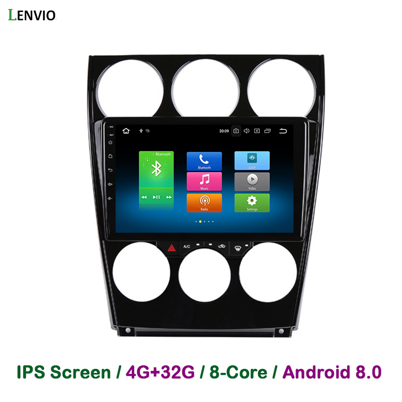 Lenvio 4G RAM 32G ROM Octa Core Android 8,0 автомобильный DVD gps плеер для Mazda 6 2002 2003 2004 2005 2008 2007 2006 Радио Аудио BT ips