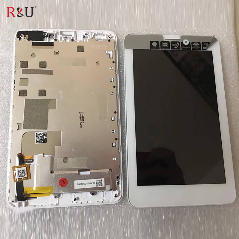 7 Lcd Display Touch Screen panel Digitizer Glass sensor assembly with frame Replacement For Acer iconia Tab7 A1-713hd Tablet PC used parts 8 inch lcd display touch screen panel digitizer glass assembly with frame replacement for acer iconia one 8 b1 820