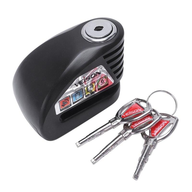 Veison Motorcycle Disc Lock Intelligent Waterproof Anti-Theft 130Db Alarm Lock Usb Charge Disc Security Warning Lock 6Mm Pin B