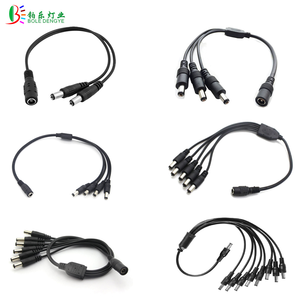 10pcs DC Splitter 1 to 2 3 4 5 6 8 Way Connector 5.5mm x 2