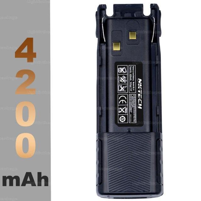 Walkie Talkie Для baofeng UV82 Pofung УФ-82 УФ-82L UV82L NKTECH 7.4 В 4200 мАч Батарея Хэм Двухстороннее Радио