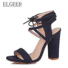 2018 new summer high heel strap womens sandals fashion casual rough With 10cm Adult
