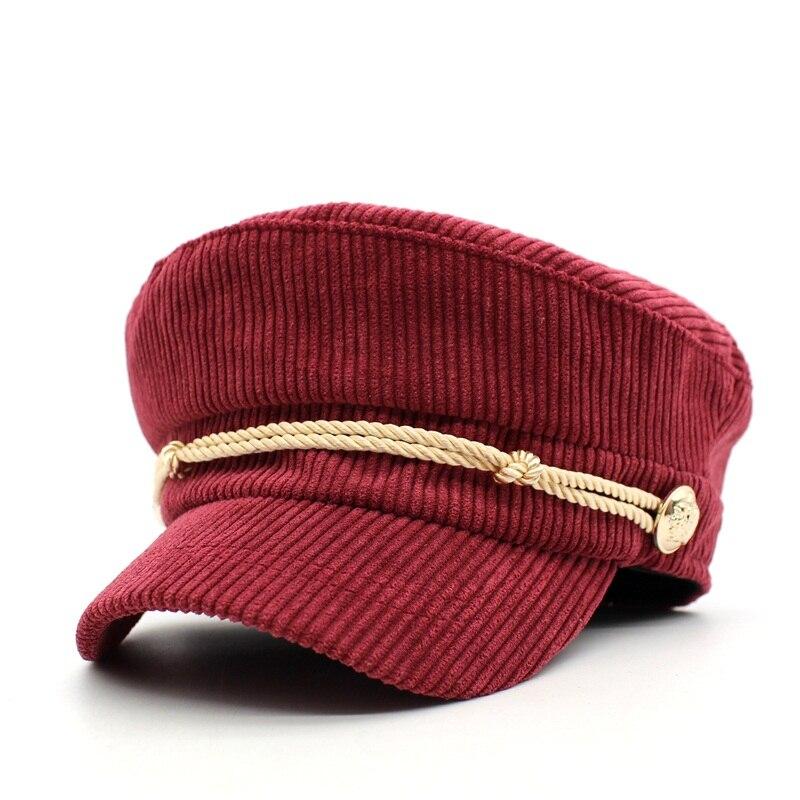 Ditpossible nuevas mujeres gorras militares sombrero moda femenina sombreros  rayas gorra militar en Sombreros militares de Accesorios de ropa en ... df8af5dd34b
