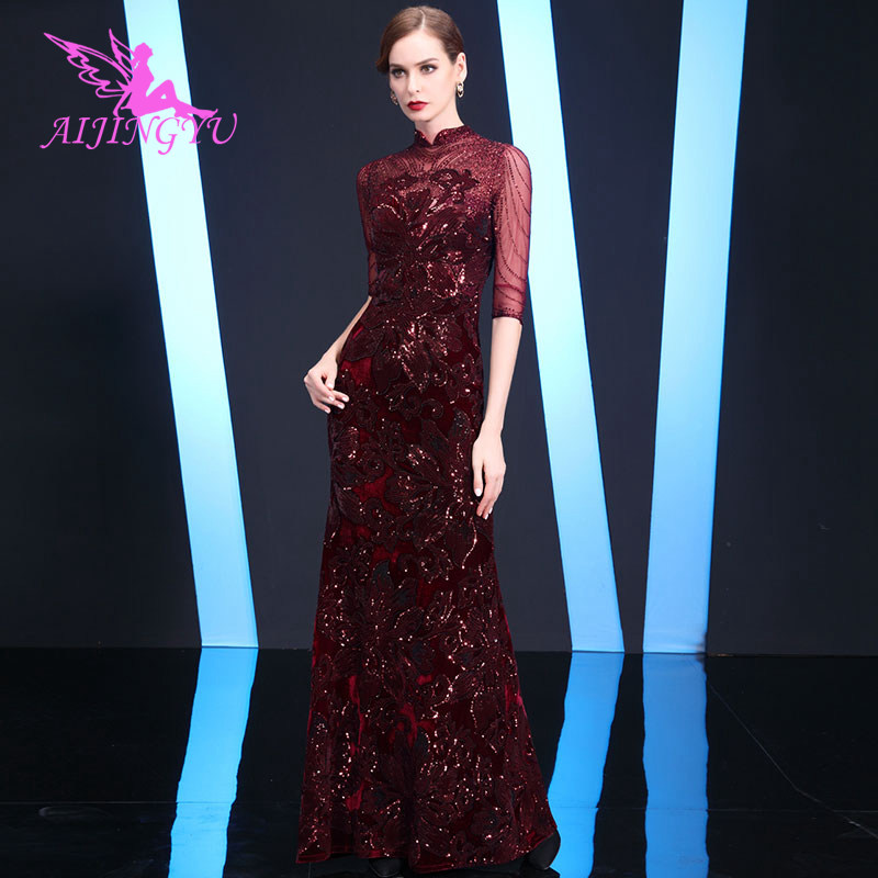 AIJINGYU Women Evening Dress Party Gown 2018 Sexy Elegant Formal Special Occasion Dresses Fashion Gowns GS142